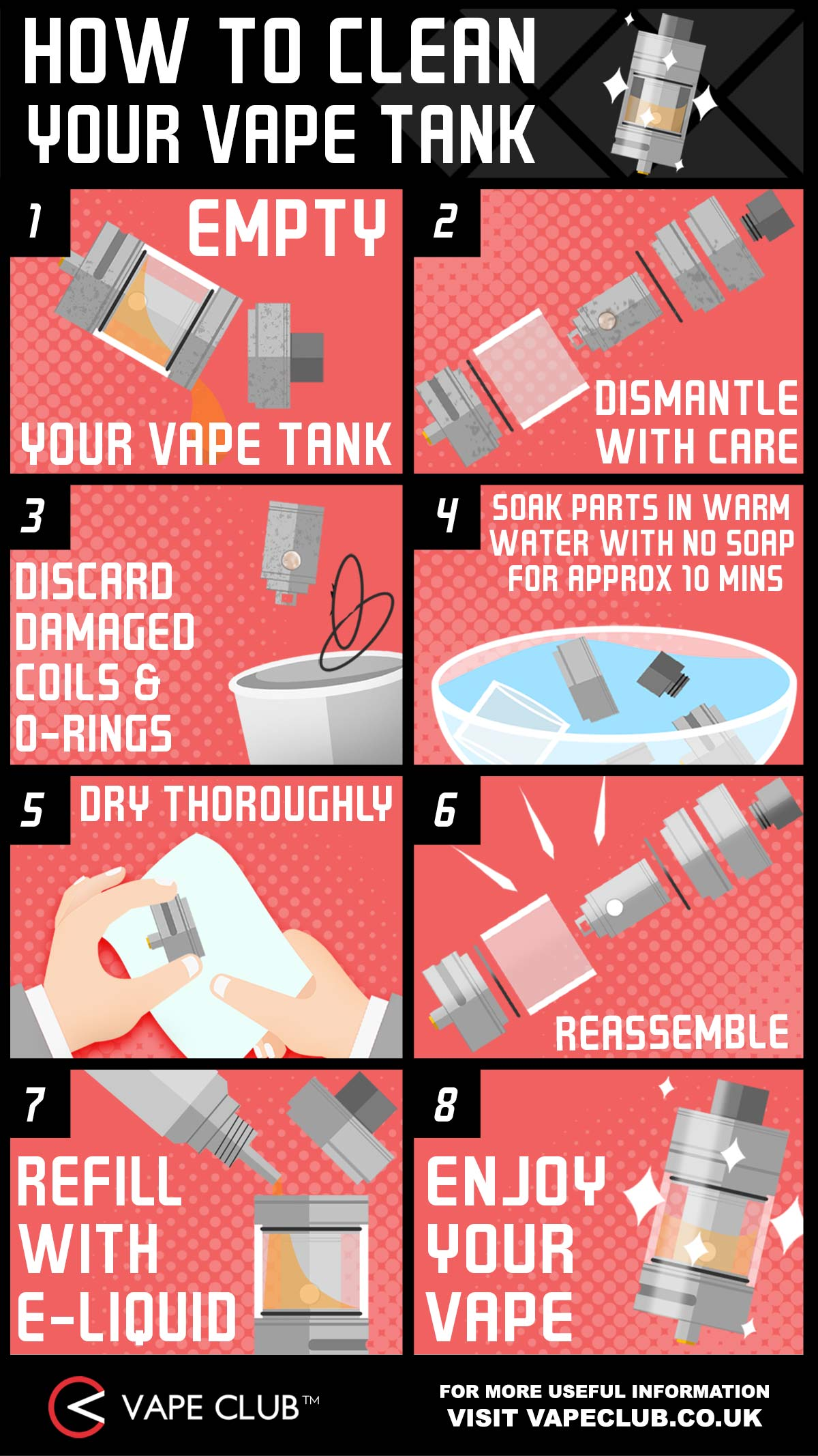 How to clean your vape tank