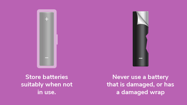 Do not use a damages battery