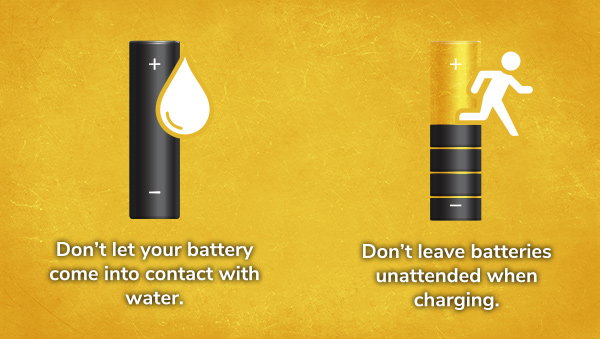 Batteries Should Not Come Into Contact With Water