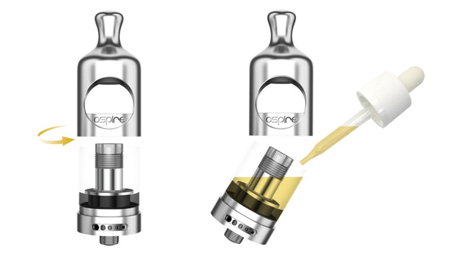 The Nautilus 2 2ml vape tank features a top fill mechanism got an easy refill method.