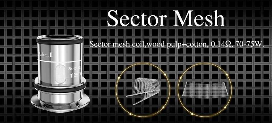 HorizonTech Sector coils use a mesh coil build enhancing flavour and vapour production.