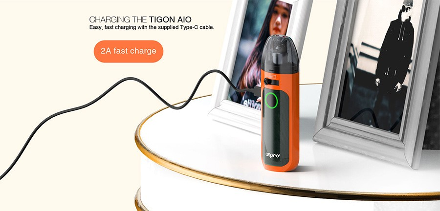 The 2A charging current of the Tigon AIO ensures a rapid recharge - no matter the circumstances.