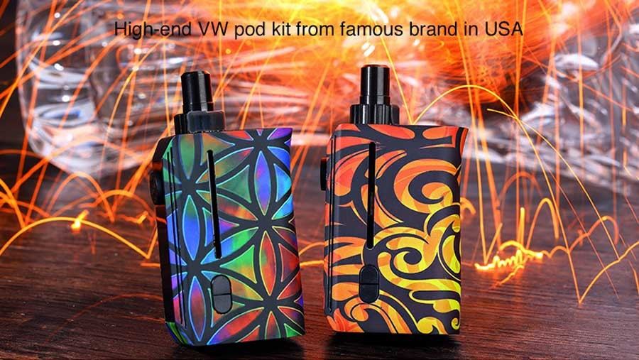 The Squid Squad pod kit is a versatile device which is powered by a 950mAh built-in battery.