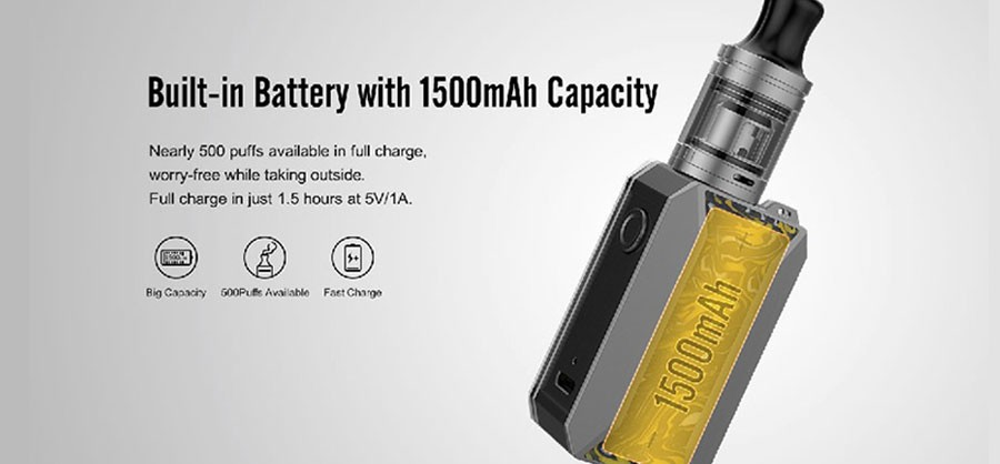 The Drag Baby Trio's 1500mAh battery can be fully charged within 90 minutes.
