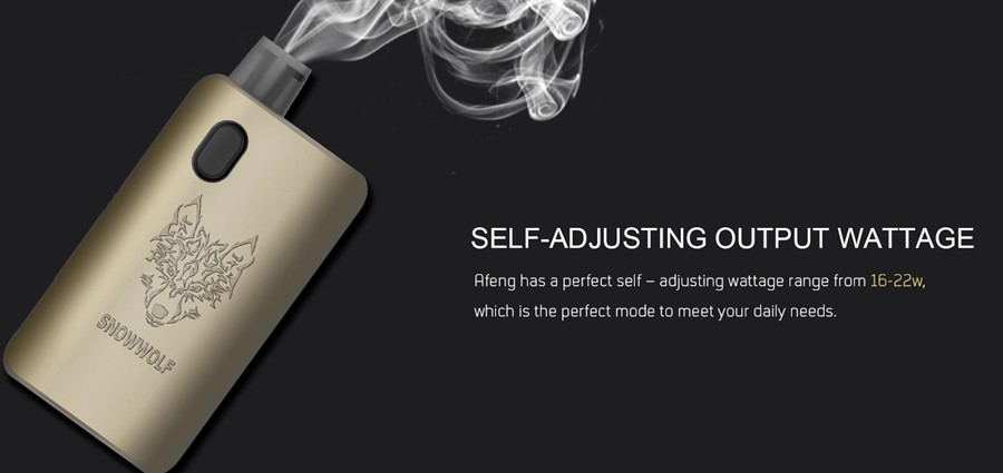 The AFENG feature a self-adjusting output wattage which detects which coil is inserted.