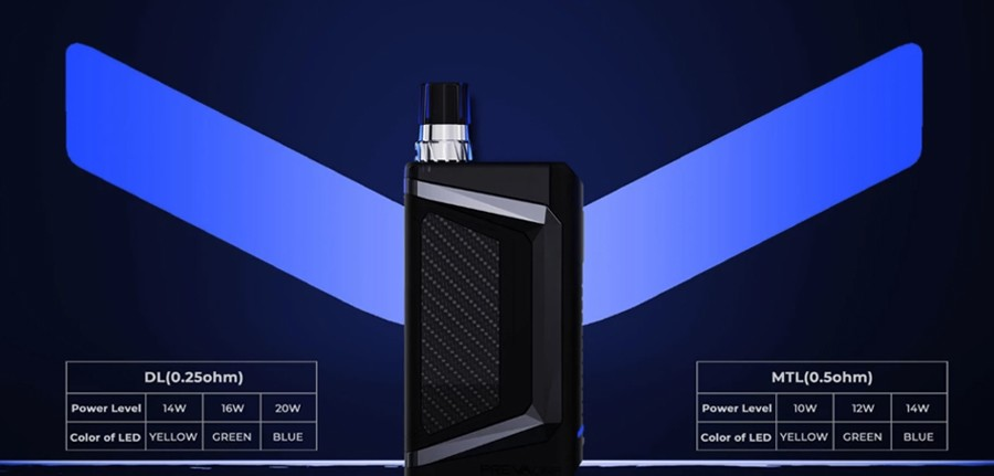 The DNA chipset installed lets you switch between direct to lung and mouth to lung vaping with ease.