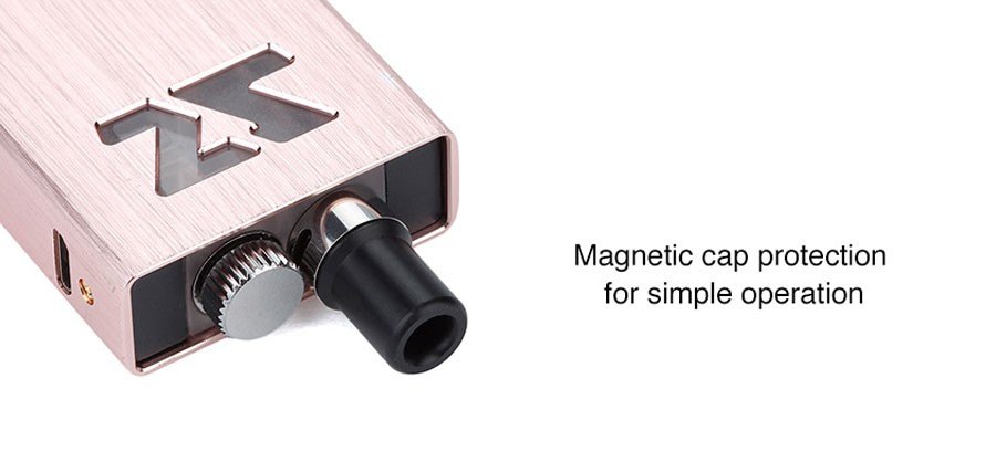 The 1000mAh Zeltu X comes with a magnetic cap for added protection when out of use.