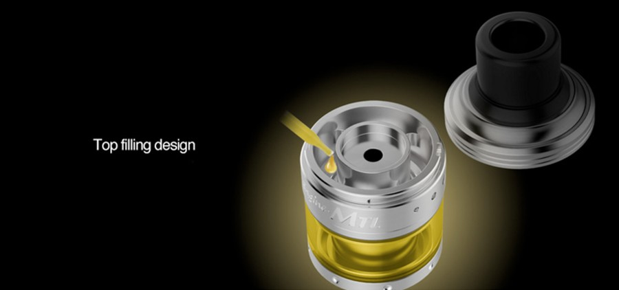 The OBS Engine 2ml MTL RTA features a removable top cap design for an easy refill.