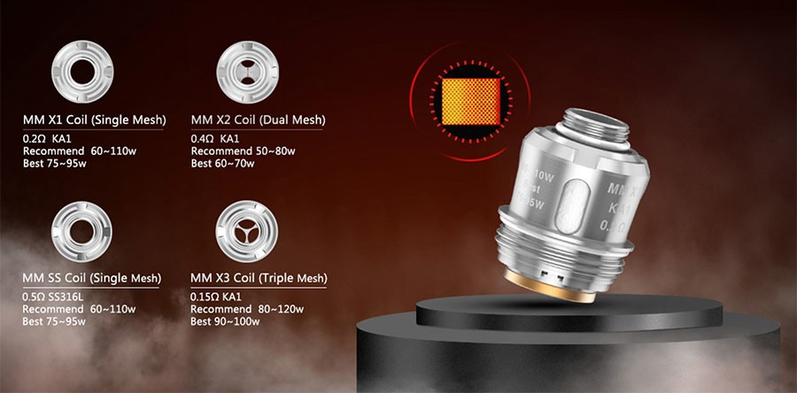 The 2ml Alpha is compatible with a range of coils, providing users with a number of alternative options.