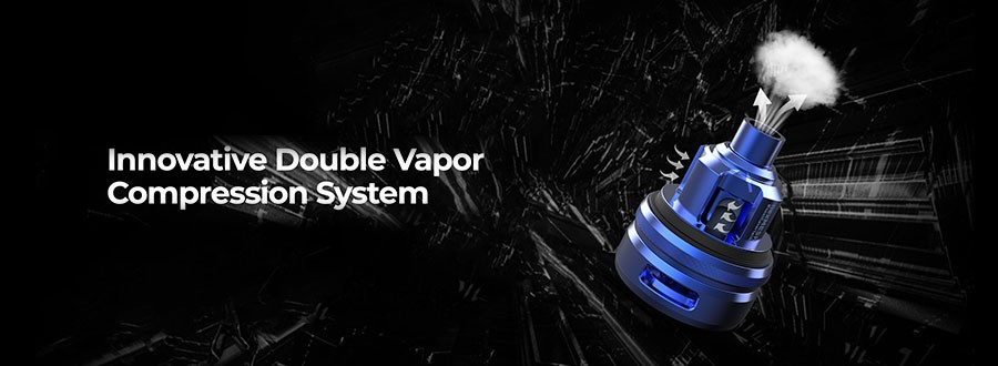 The 2ml NexMESH features an adjustable airflow system as well as double vapour compression for large clouds and clear flavour.