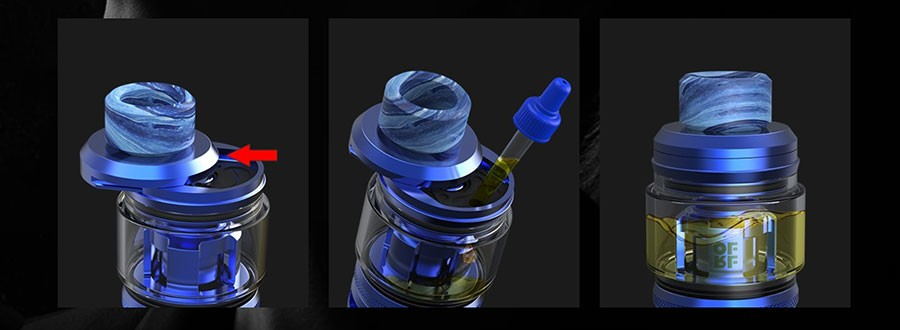 The 2ml OFRF NexMESH features a push to fill top cap for an easy and efficient refill method.