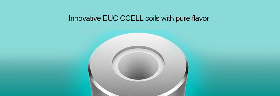 The Drizzle MTL vape tank employs EUC CCELL coils for clear flavour and an increased lifespan.