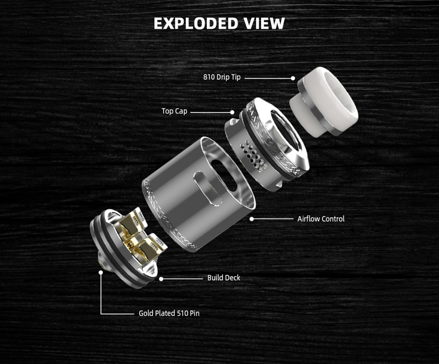 The HellVape Dead Rabbit 2 RDA is a redesign of the classic Dead Rabbit and has been designed for increased vapour production.
