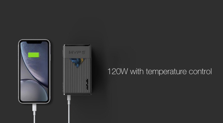 The MVP5 kit features a 120W max output as well as temperature control mode.