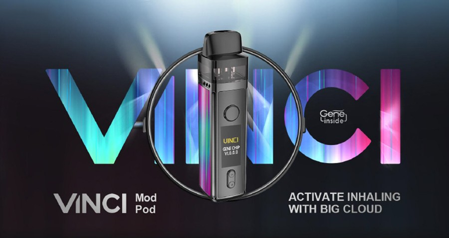 The Vinci pod kit is a versatile kit that can be used by vapers of all experience levels.
