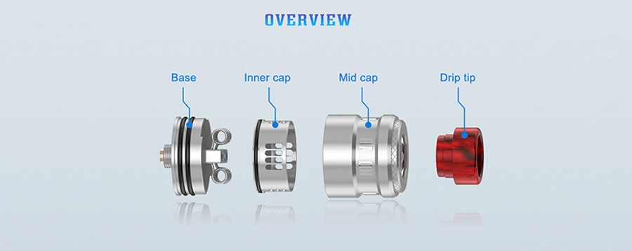 The Geekvape Baron is a 24mm RDA with a two post build deck, designed to support dual coil builds.