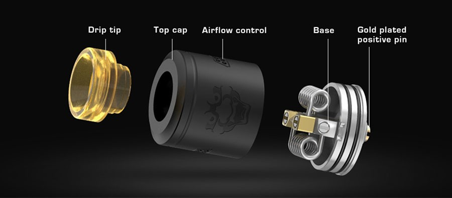 The Geekvape Tengu is a 24mm RDA with a stylish design and a three post clamp deck.