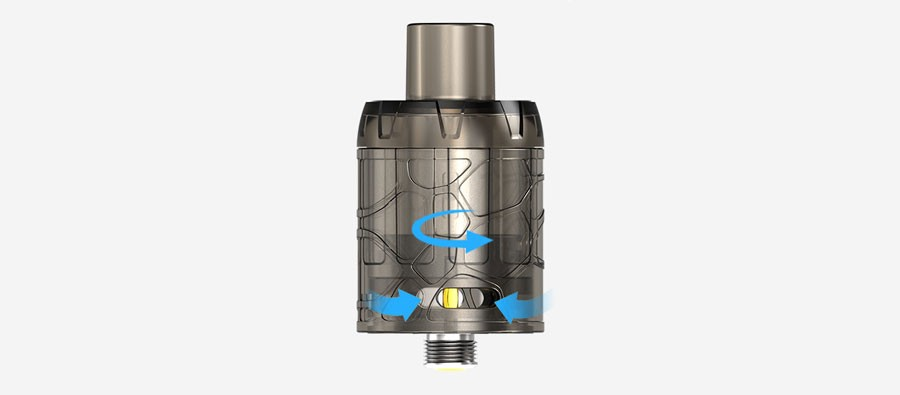 The 2ml Mystique features a dual adjustable airflow to help users find their ideal vape.