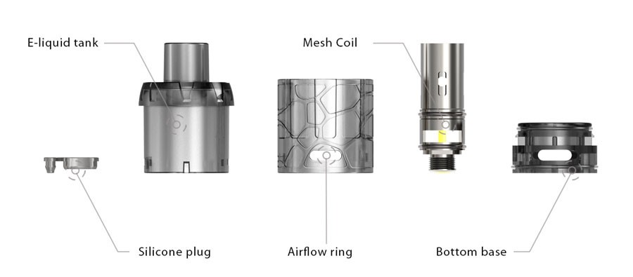 The iJoy is a disposable sub ohm vape tank with an eye-catching design and features a 510 connection.