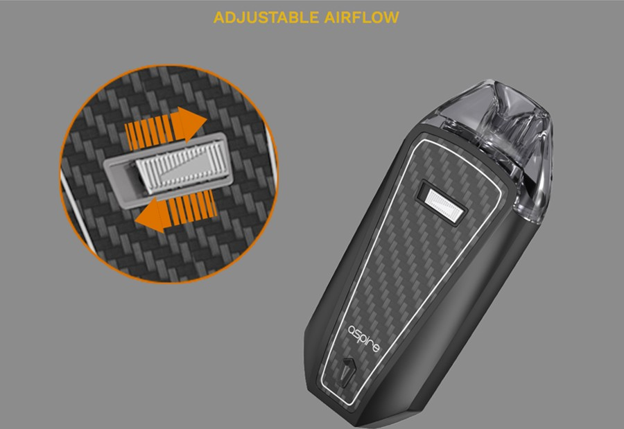 The AVP Pro pod device features an adjustable airflow toggle for a versatile, user-friendly experience.