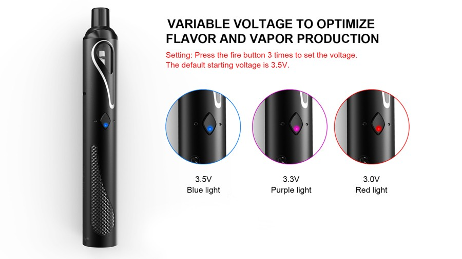 The Artery Pal Stick has three power levels for MTL or DTL vaping
