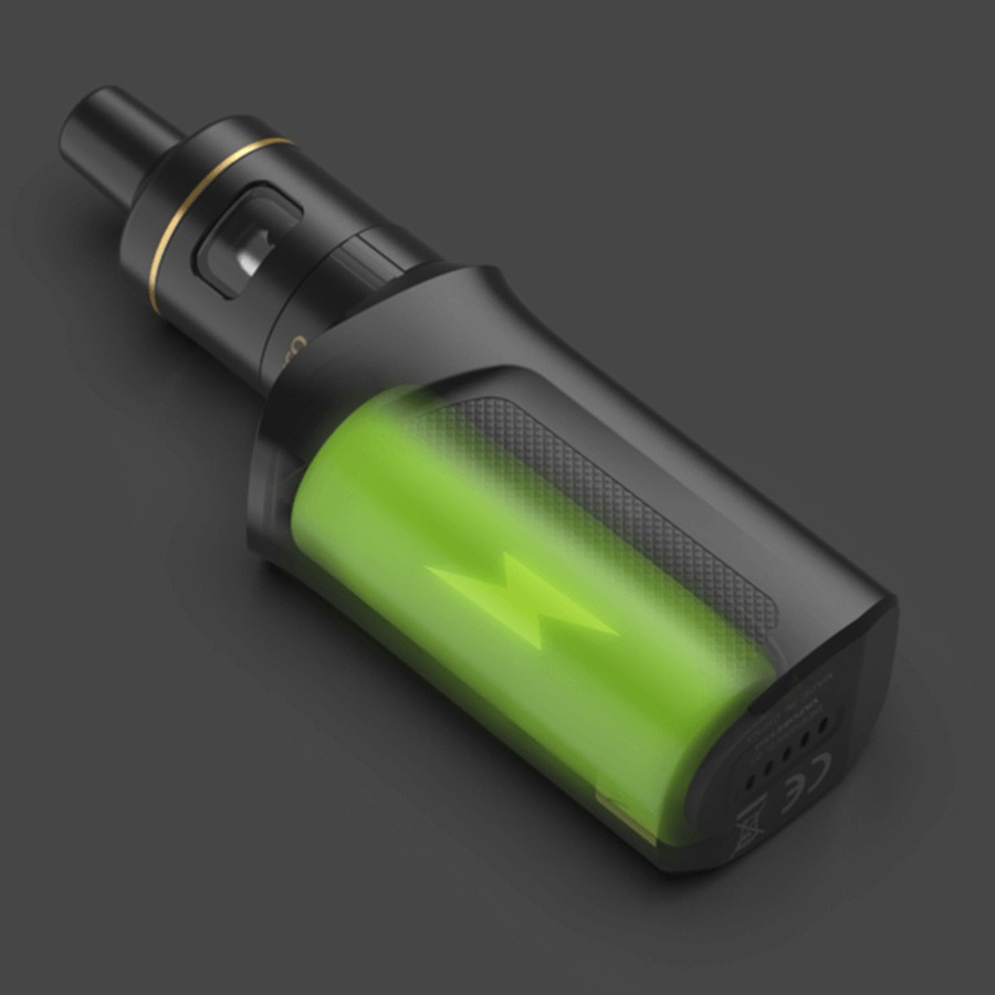 The Target Mini 2 vape kit uses a large capacity built-in battery