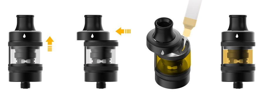 The Tigon vape tank features a childproof e-liquid filling system