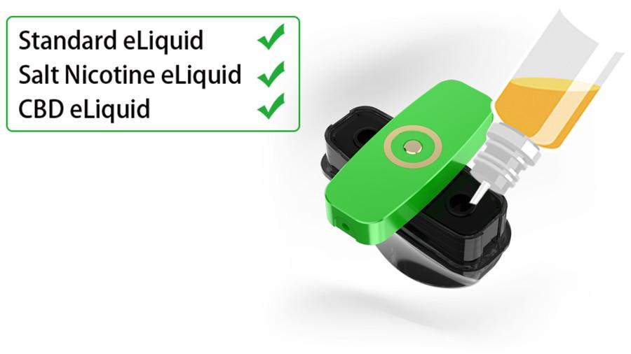 A twist to refill cap makes refilling the Innokin EQ-S a simple process.