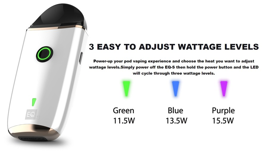 Three adjustable wattage levels makes the EQ-S a customisable device.