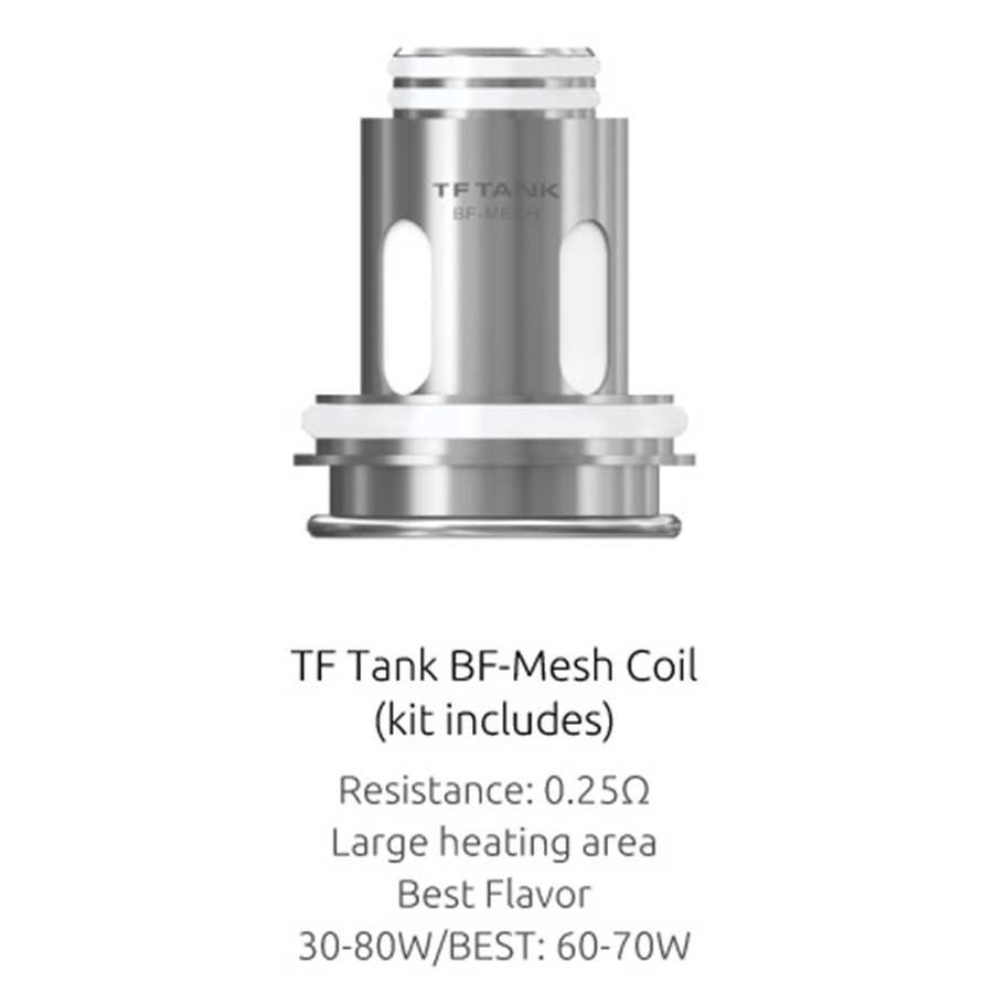 Smok sub ohm coils for use with high VG eliquids