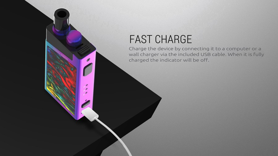 The Trinity Alpha offers fast charging.