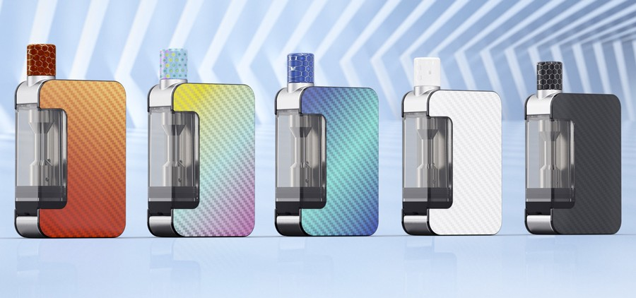 The Joyetech Exceed Grip is a simple refillable pod vape kit.