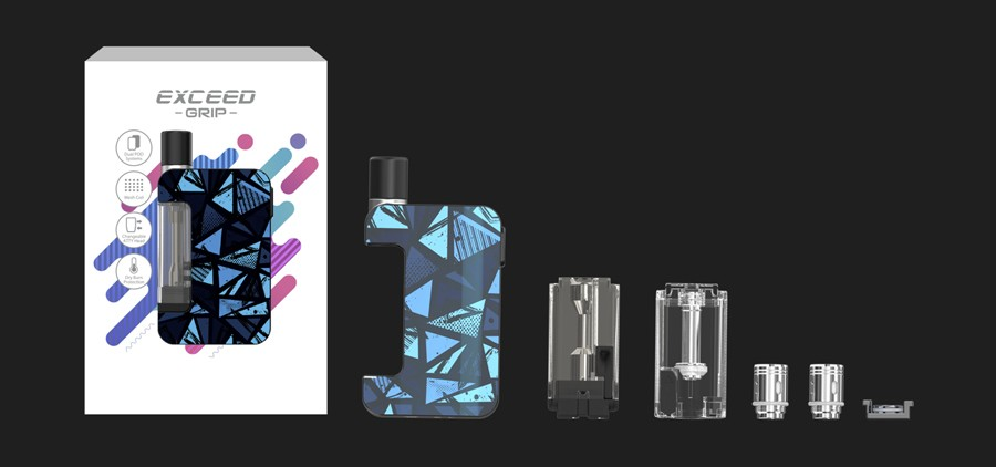 The Joyetech Exceed is a full starter kit, with all the hardware you need to start vaping.