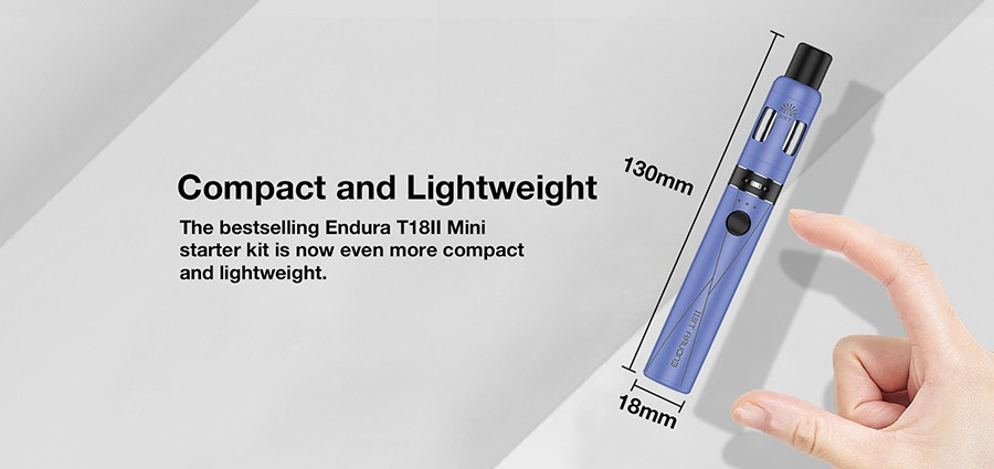 A compact and lightweight construction makes the Endura T18II Mini a discreet device.