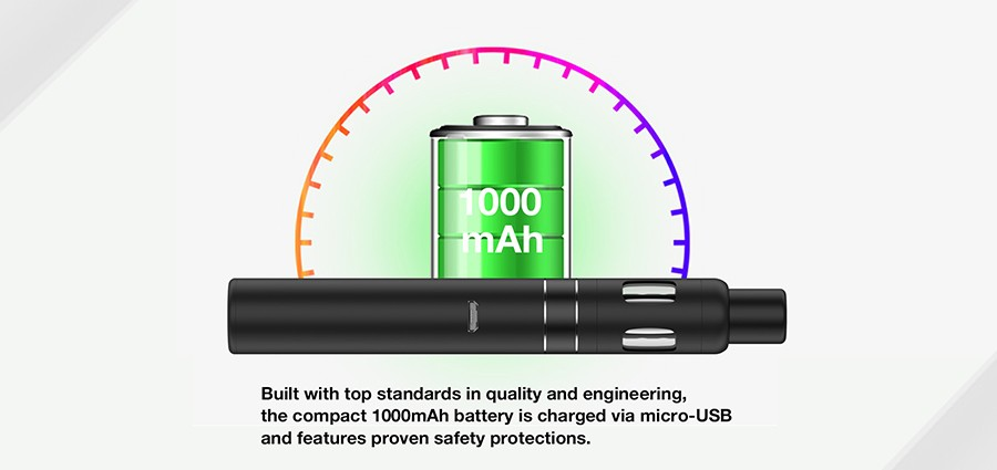 A large-capacity 1000mAh built-in battery is built into the Endura T18II Mini.