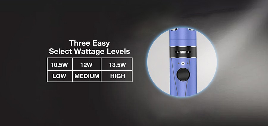 Three preset wattage levels allows the Endura T18II Mini to pinpoint your vaping style.