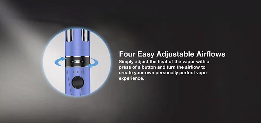 The Endura T18II Mini features four adjustable airflow options.