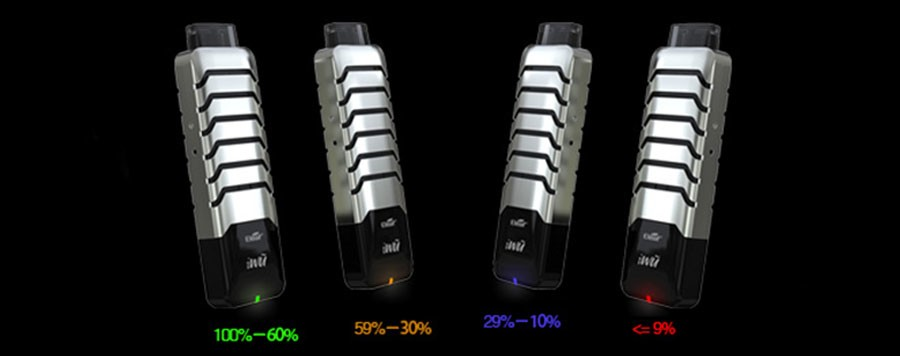 the iWu vape kit by Eleaf features no buttons and is inhale activated.