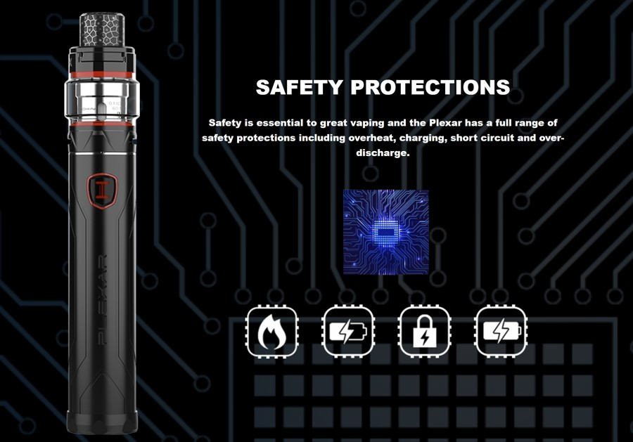 The Innokin Plexar starter kit features multiple protection modes for a safer vape.