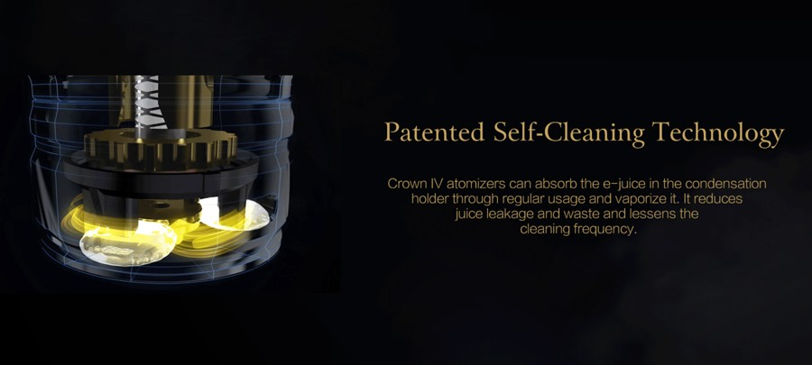 The Crown 4 tank features patented self-cleaning technology for minimal maintenance.
