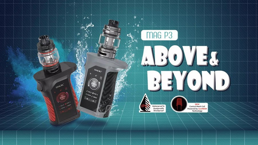 The Smok Mag P3 sub ohm vape kit is power and performance-driven, ideal for creating big clouds and flavour