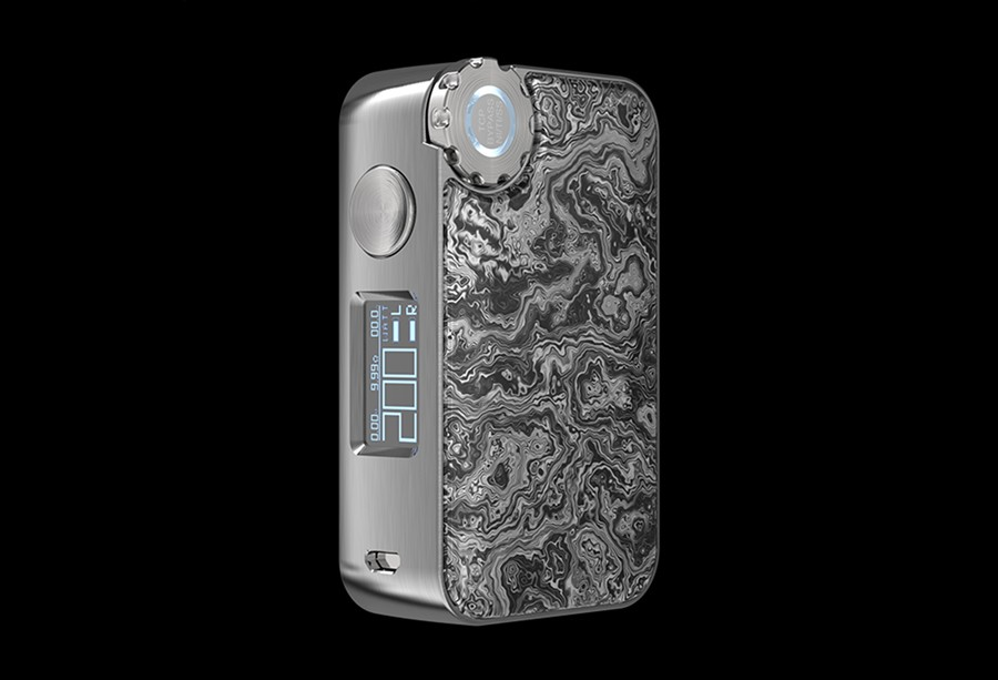The Vapemons Gearbox 222W is powered by dual 18650 batteries and features a range of modes