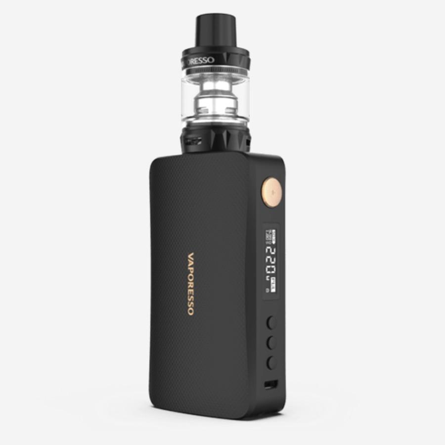 The Vaporesso Gen Kit is a sub ohm vape kit with a 220W maximum output