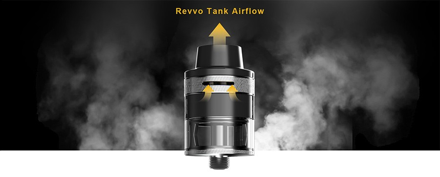 The Aspire Revvo tank feature triple top adjustable airflow giving users control over their inhale.