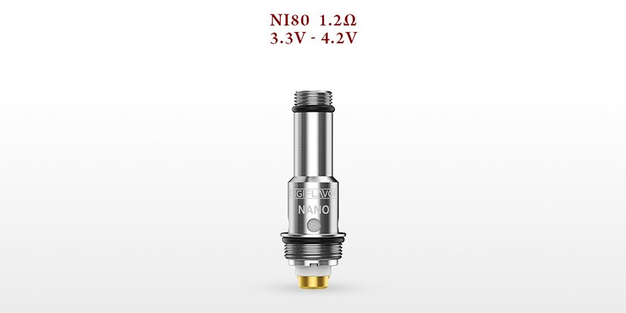 The UPEN utilises the Nano vertical coils, delivering an MTL vape.