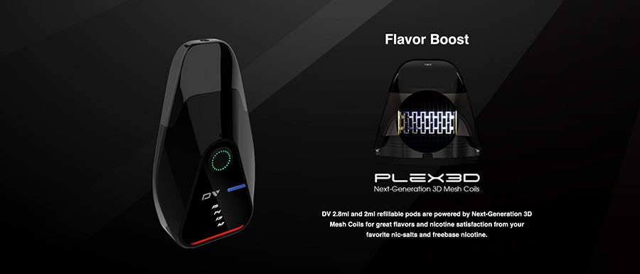 The Innokin DV pod kit utilises Plex 3D mesh coils for enhanced flavour.