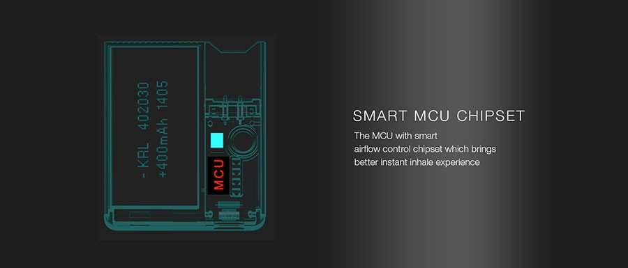 The OVNS JC01 pod kit features a smart MCU chipset with a simple operation.