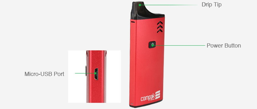 The Sigelei Compak M Class pod kit features a 650mAh built-in battery and comes with the 2ml Compak M Class refillable pod.