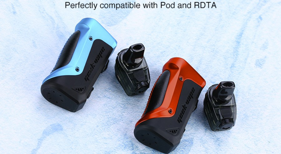 The Aegis Boost pod kit is compatible with both the 2ml Boost pods and the Boost RDTA pods.