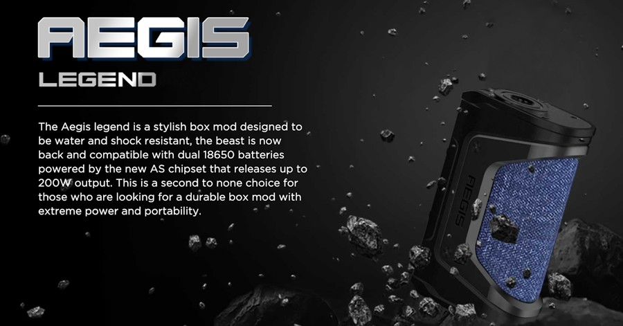 The GeekVape Aegis Legend vape kit is a powerful kit that has been designed for sub ohm vaping.